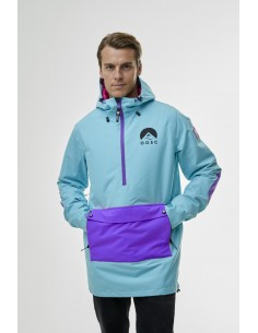 abf591e03a OOSC Teal Overhead Ski Jacket